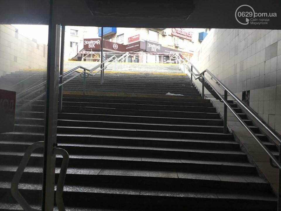 В Мариуполе закрыли выход из подземного перехода, - ФОТО, фото-8