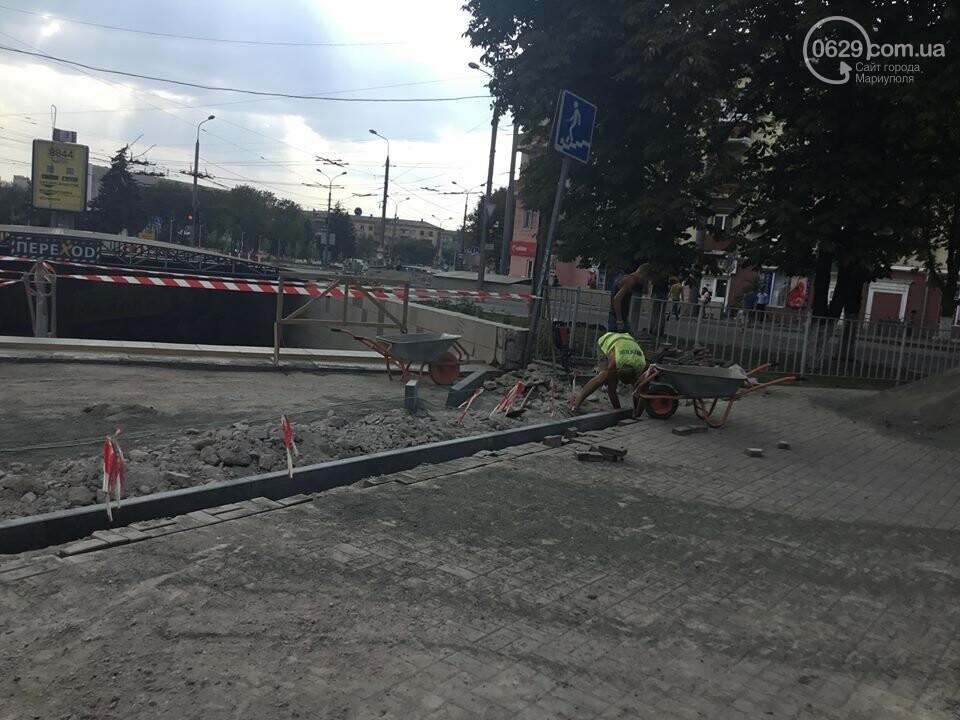 В Мариуполе закрыли выход из подземного перехода, - ФОТО, фото-1