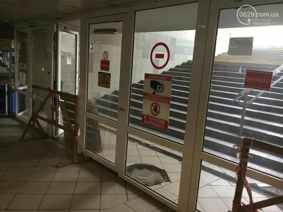 В Мариуполе закрыли выход из подземного перехода, - ФОТО, фото-3