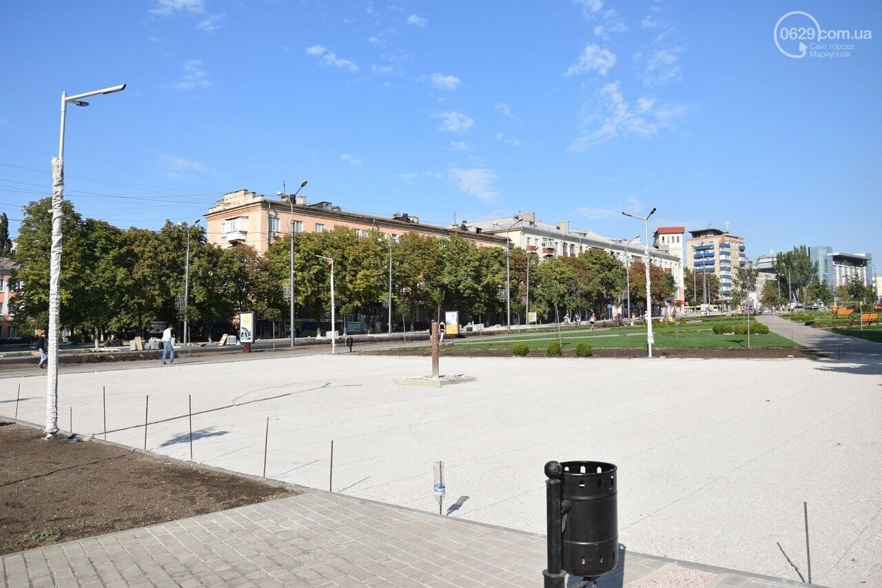 На Греческой площади в Мариуполе засыхают кустарники, но зазеленел газон, - ФОТОРЕПОРТАЖ, ВИДЕО, фото-41