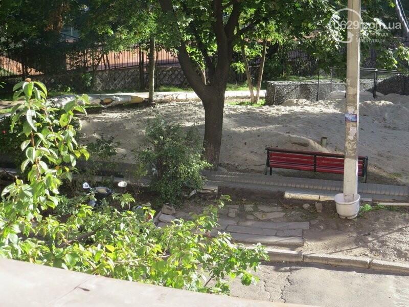 Мариупольский двор засыпают 100 тоннами шлака, - ФОТО, фото-12