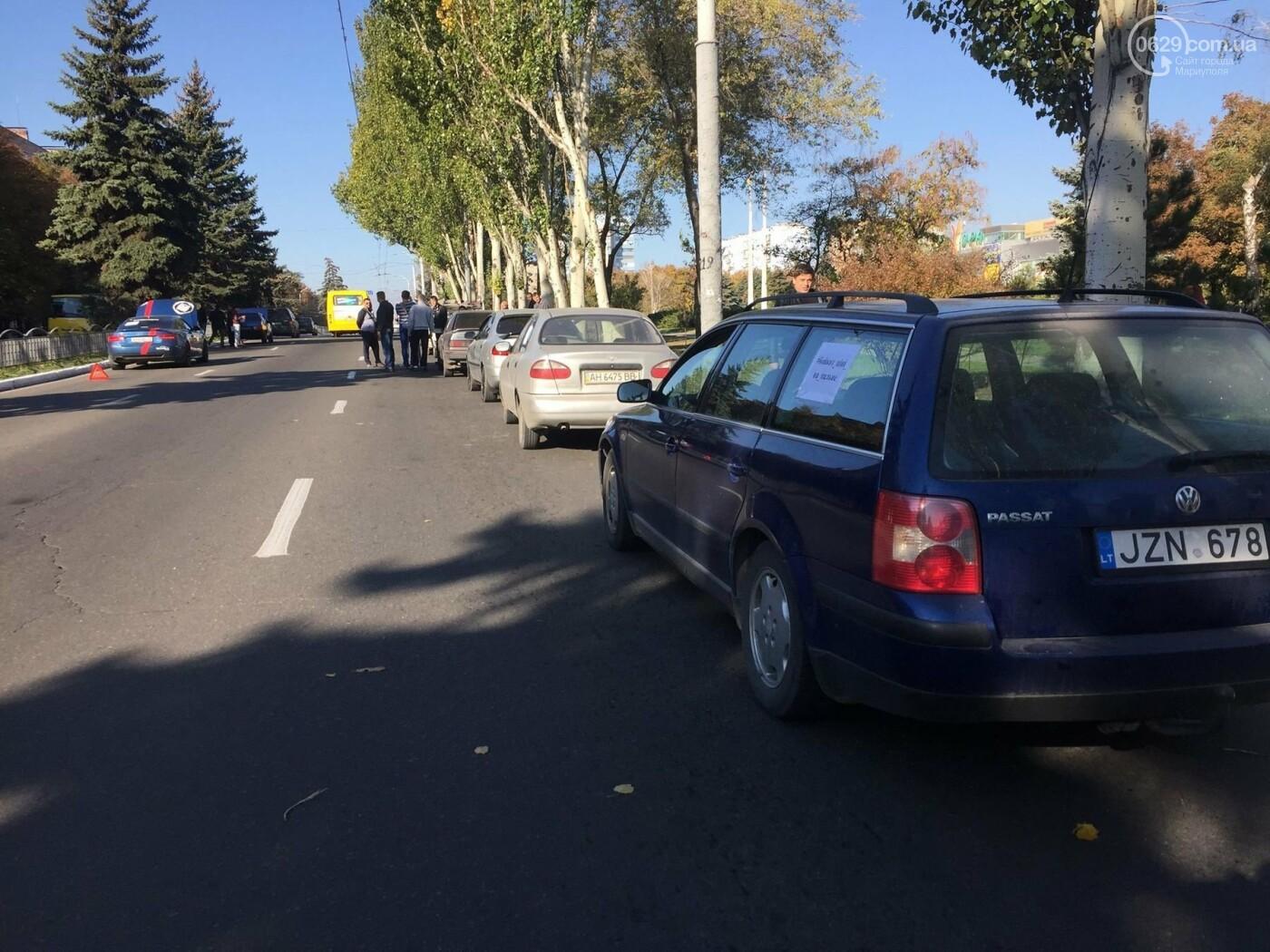 Автомобилисты в центре Мариуполя сигналили против высоких цен на топливо, - ФОТО, ВИДЕО, фото-3
