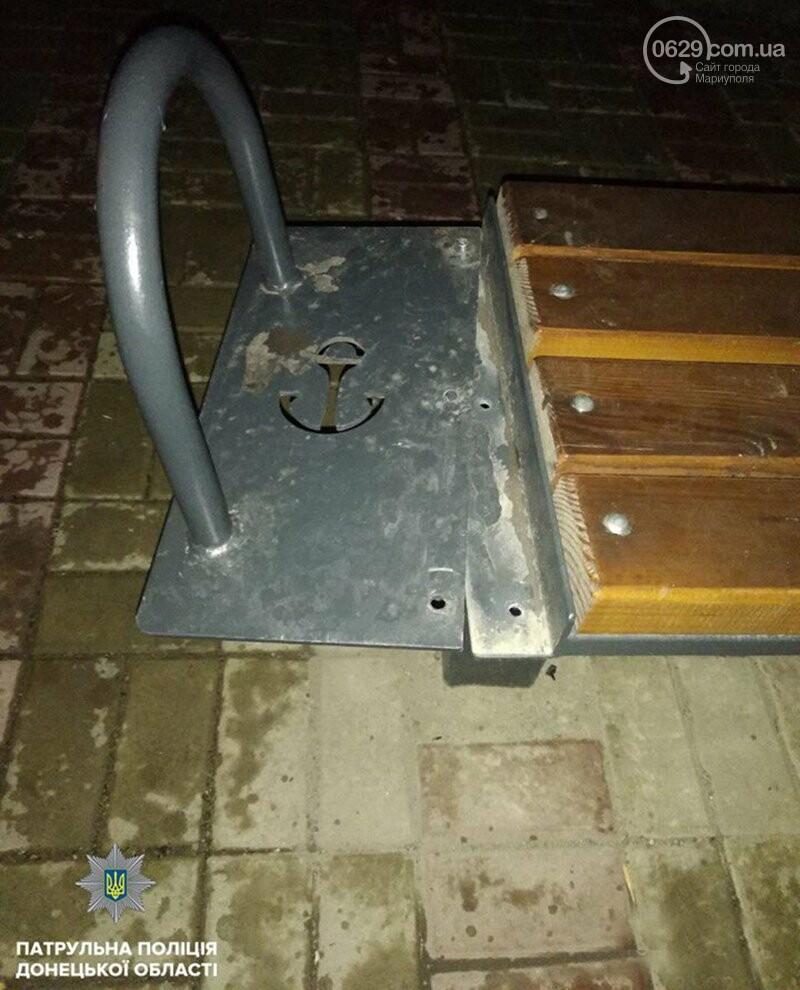 Мариуполец пытался украсть часть остановки, - ФОТО, фото-2