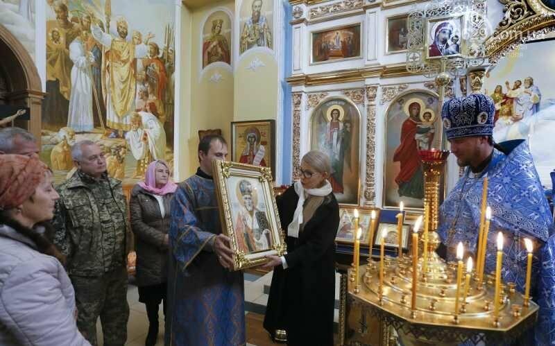 Юлія Тимошенко помолилася за мир та українських військових у прифронтовій Костянтинівці, фото-2