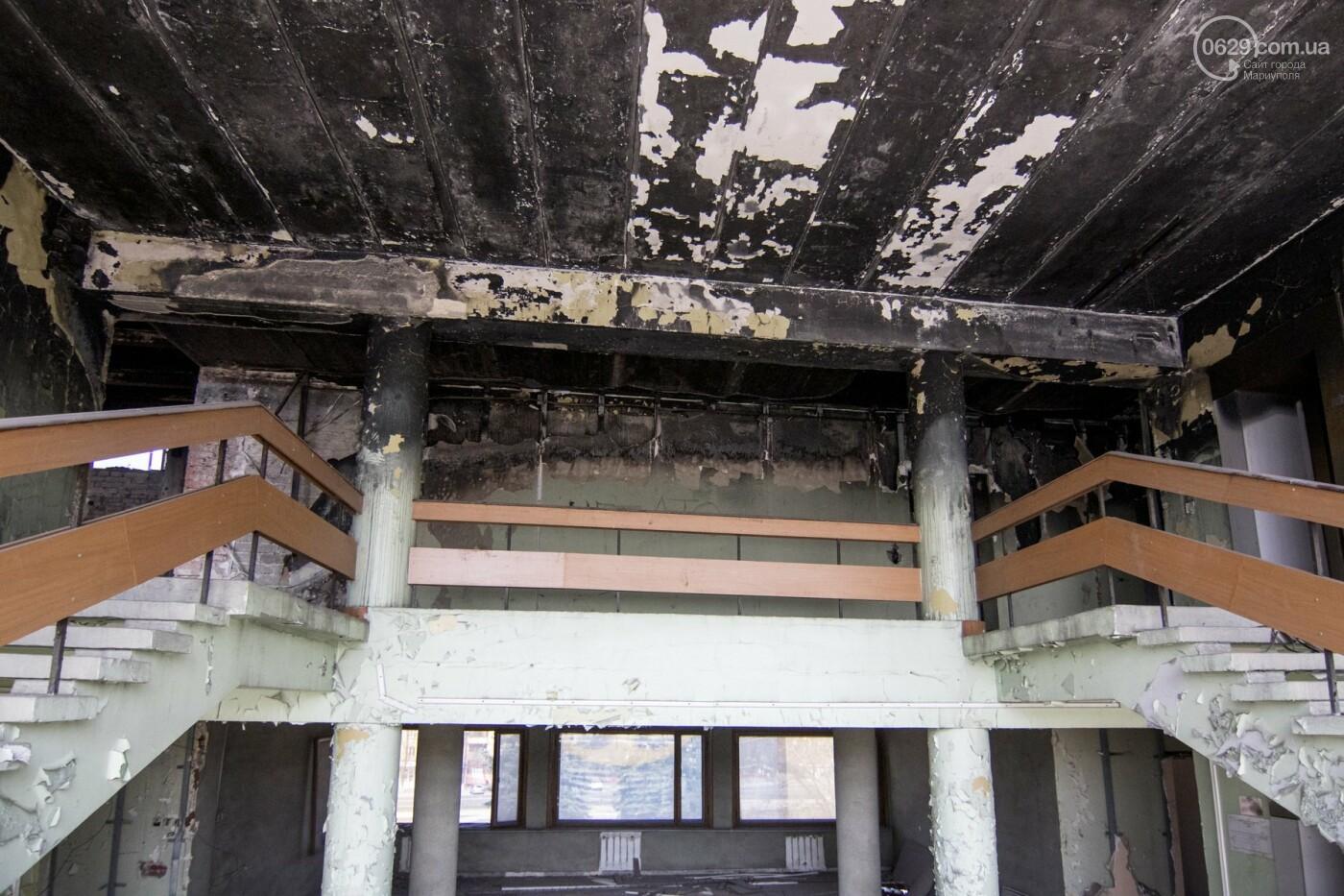 В Мариуполе не могут найти подрядчика для реконструкции сгоревшего горсовета, - ФОТО, фото-6