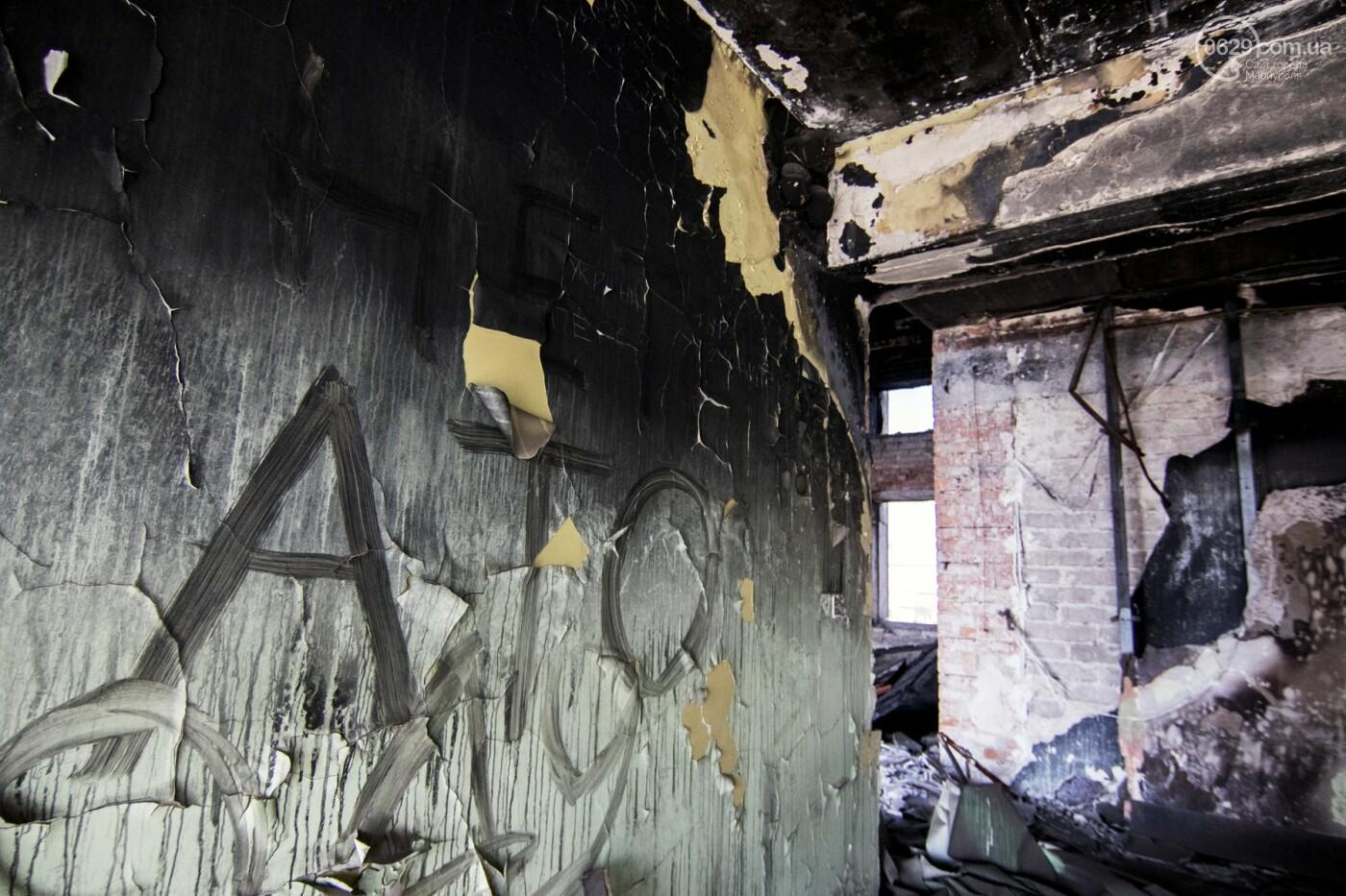 В Мариуполе не могут найти подрядчика для реконструкции сгоревшего горсовета, - ФОТО, фото-7