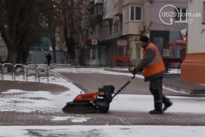 Как Мариуполь боролся с первым зимним снегом, - ФОТО, фото-2