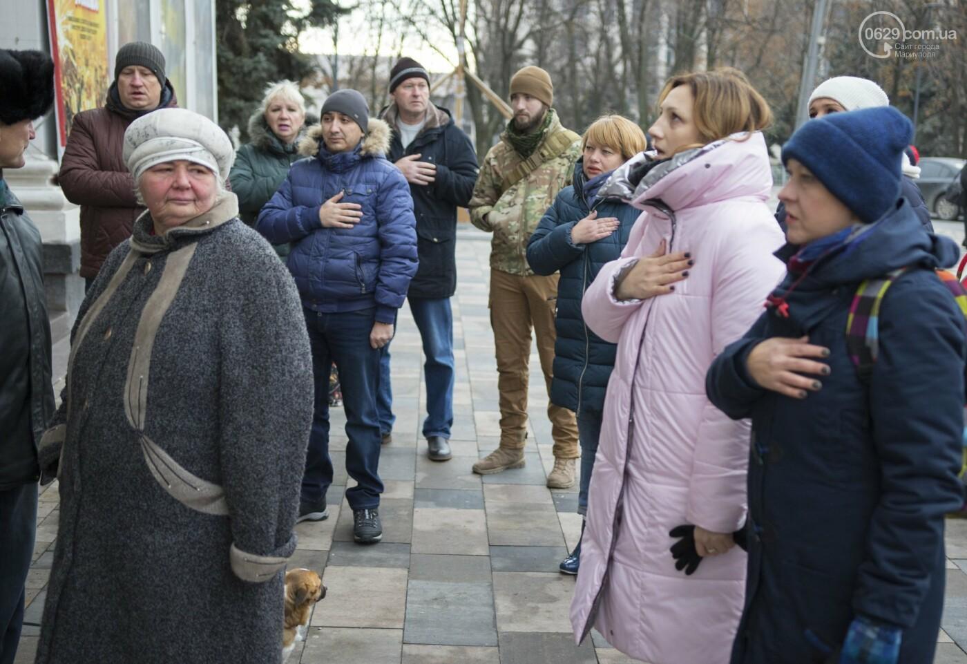 В Мариуполе подняли флаг военно-морских сил Украины,- ФОТО, ВИДЕО, фото-3