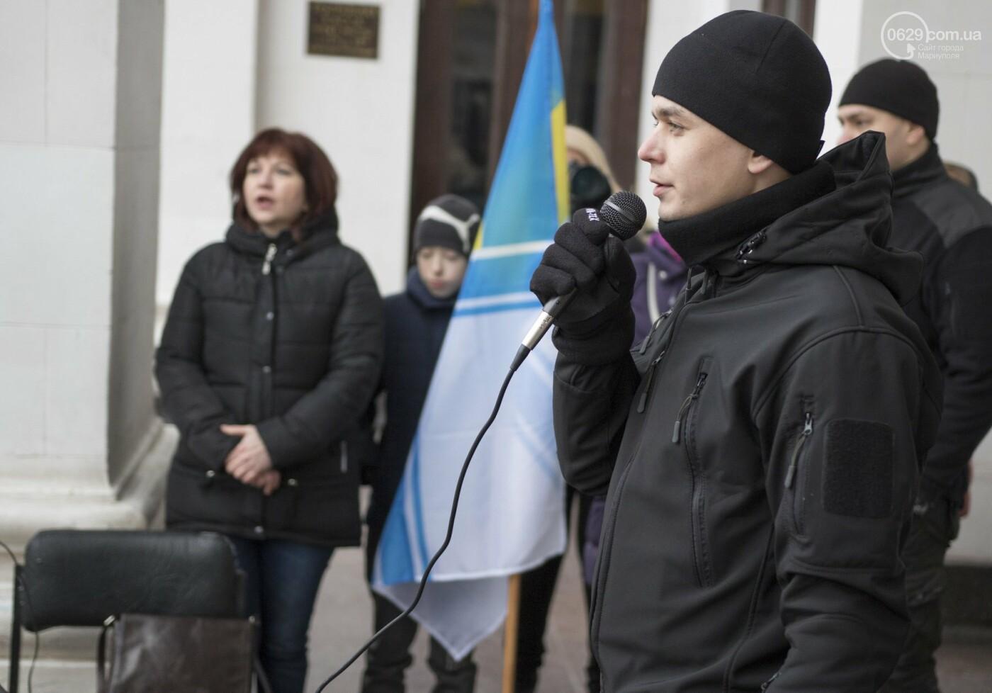 В Мариуполе подняли флаг военно-морских сил Украины,- ФОТО, ВИДЕО, фото-6
