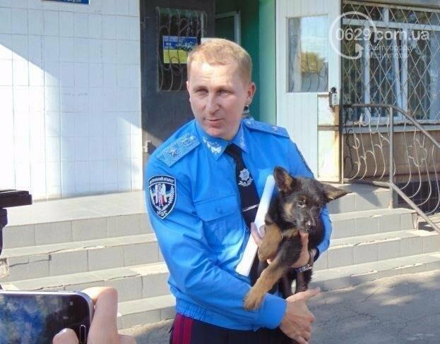 Самый известный пес Донецкой полиции остался без первого хозяина, фото-3