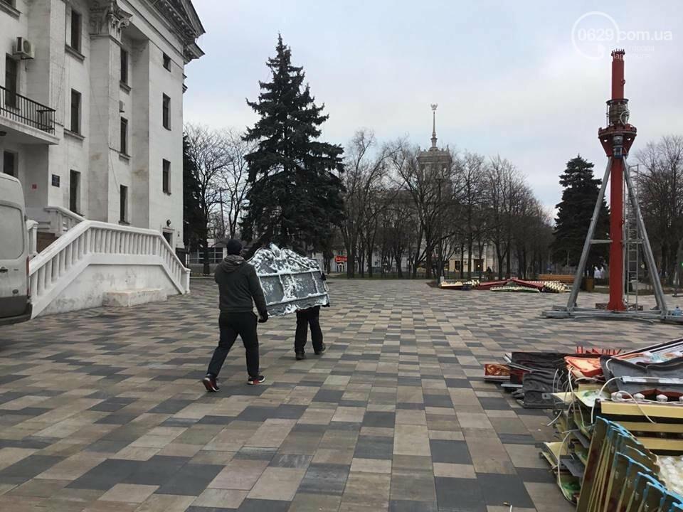 В Мариуполь из Киева привезли карусель и снег, - ФОТОРЕПОРТАЖ, фото-7