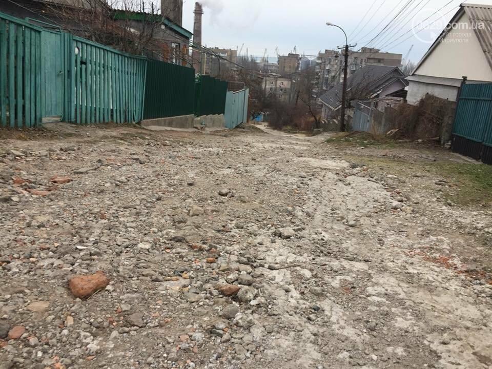 Жители переулка Тихого в Мариуполе устали   ждать ремонта дороги,- ФОТО, фото-5
