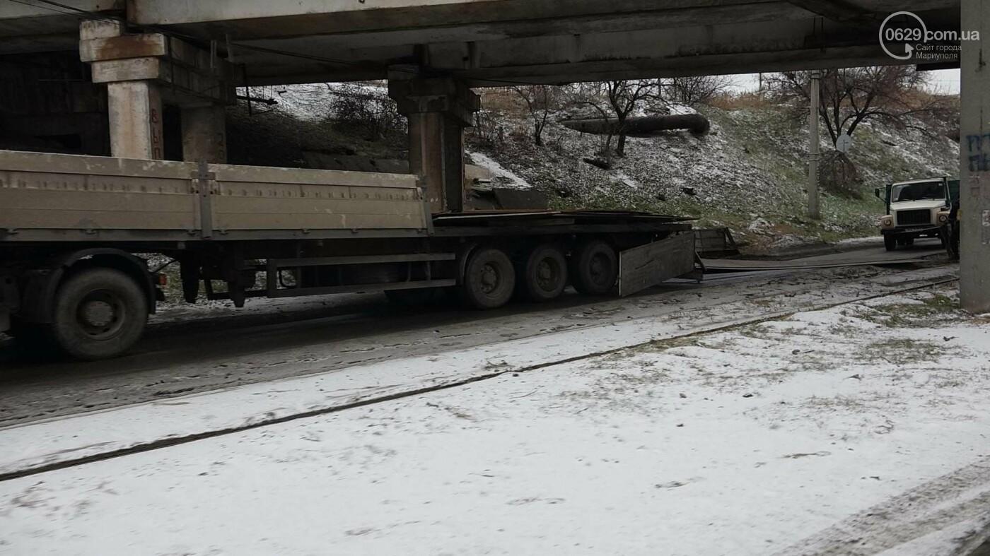 В Мариуполе МАЗ по дороге растерял железо, - ФОТО, фото-3