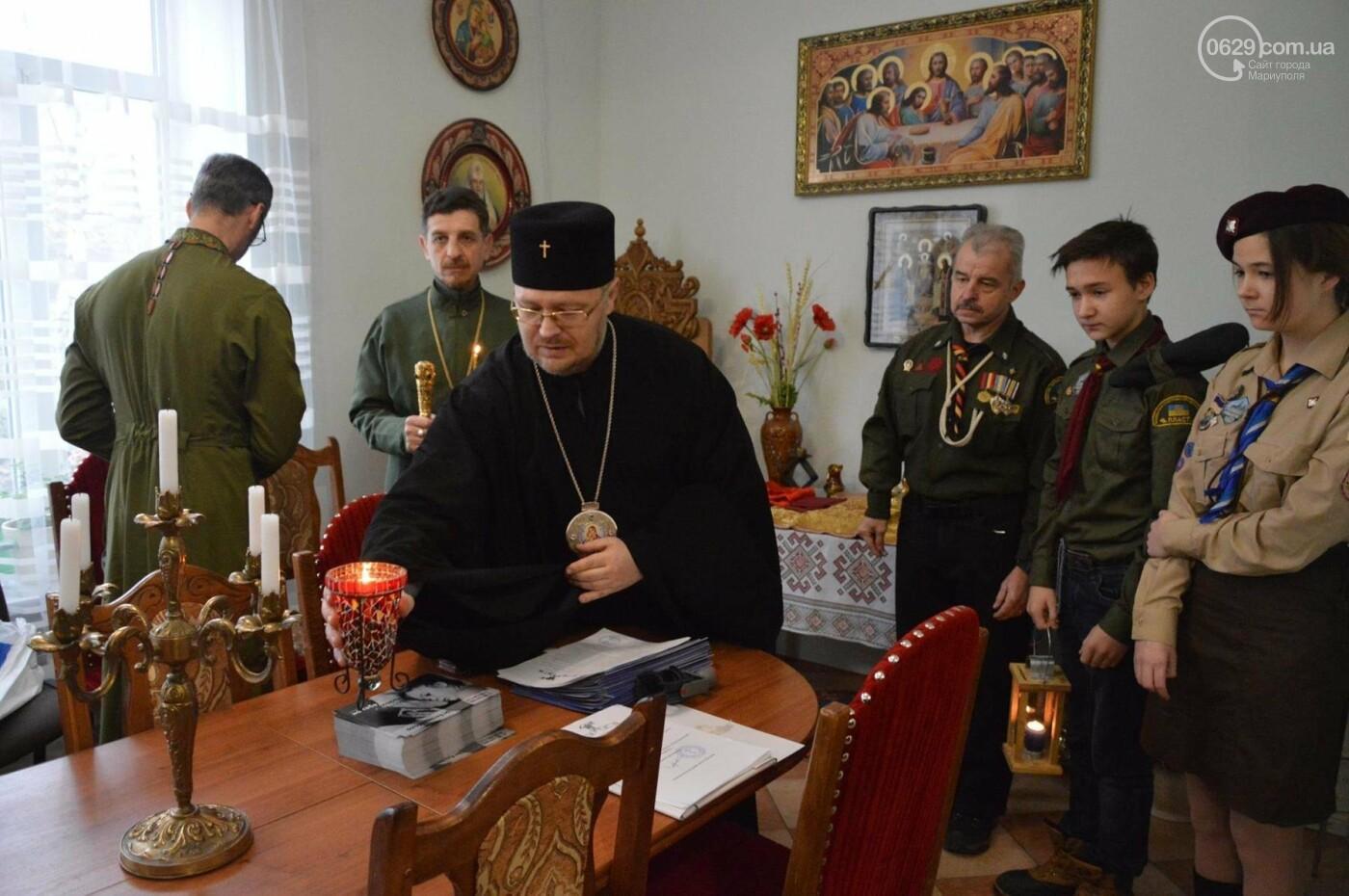 Пластуны Мариуполя передали Вифлеемский огонь мира в храмы Донецкой области, - ФОТО, фото-5