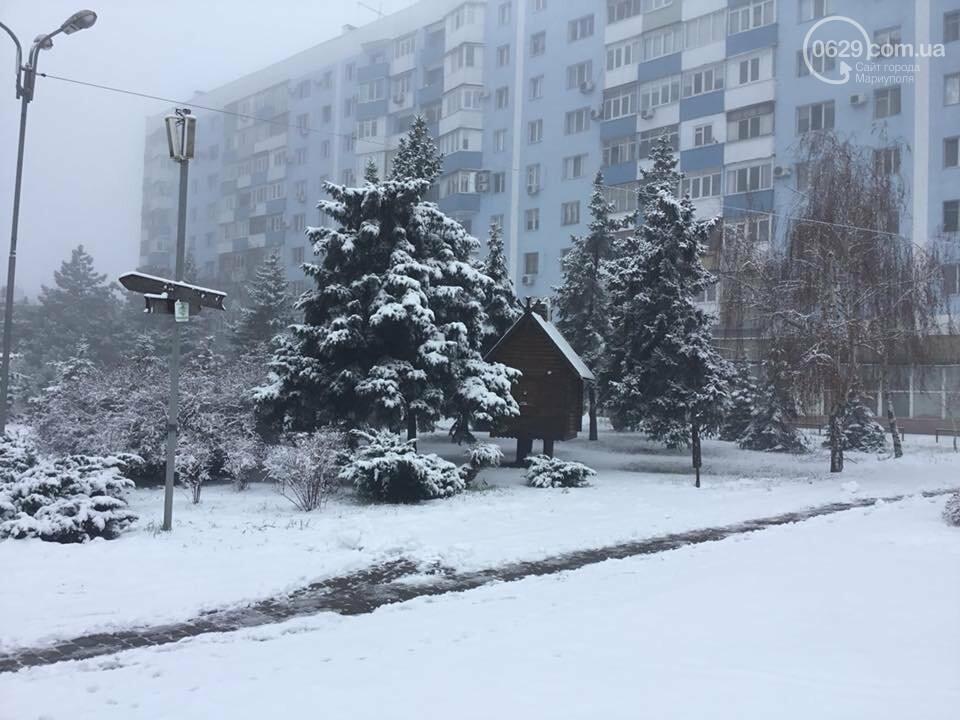 Пора для  восхищения или суровые будни. Мариуполь завалило снегом,- ФОТО, фото-5