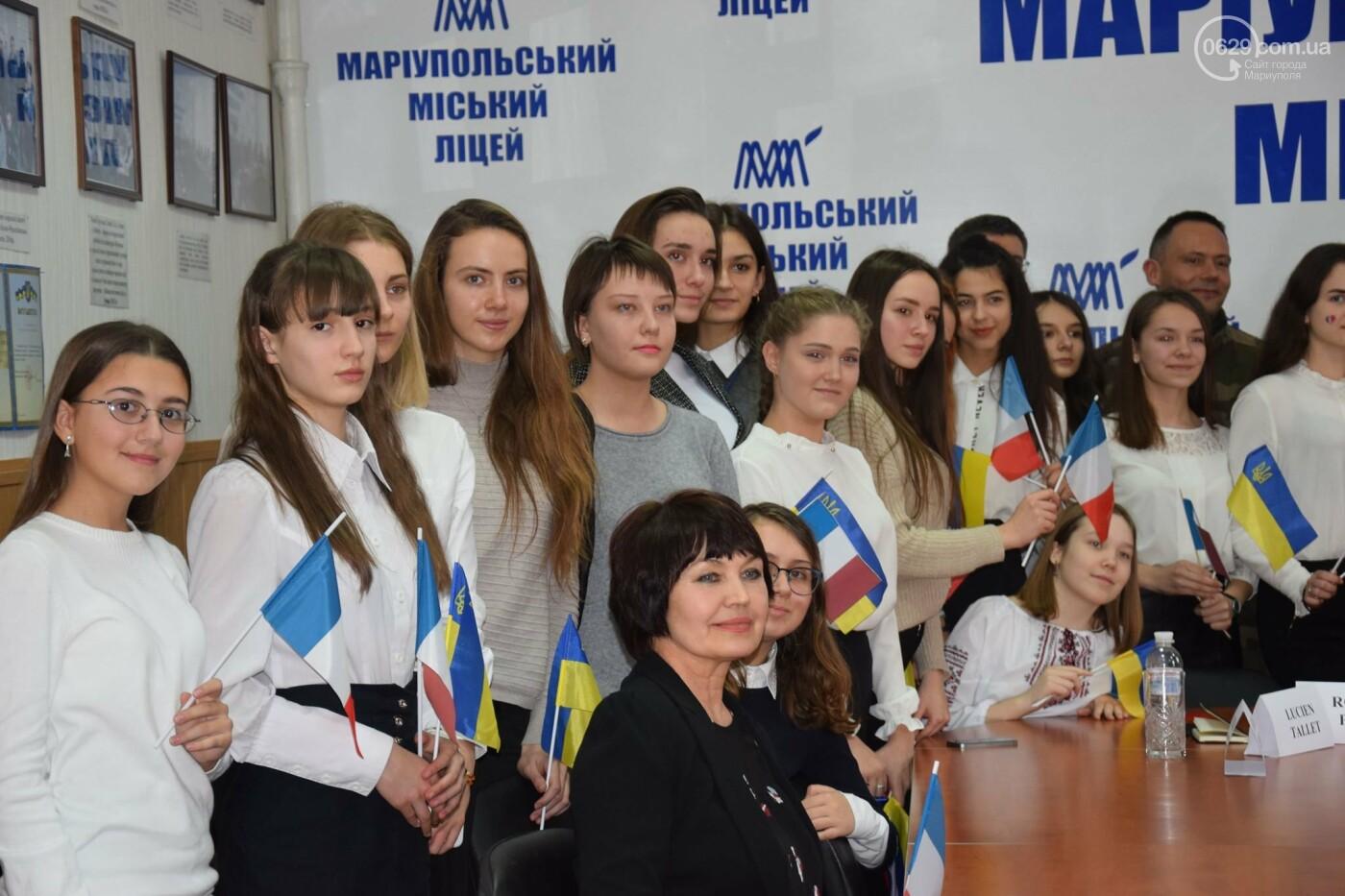 Посол Франции в Украине посетила Мариупольский лицей,- ФОТО, ВИДЕО, фото-5