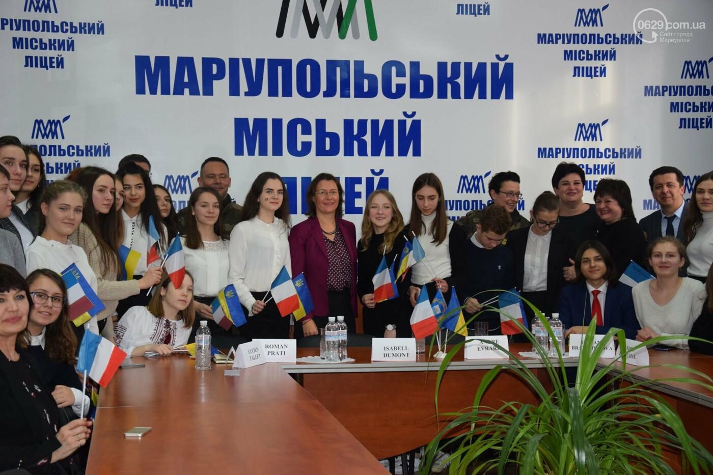 Посол Франции в Украине посетила Мариупольский лицей,- ФОТО, ВИДЕО, фото-2