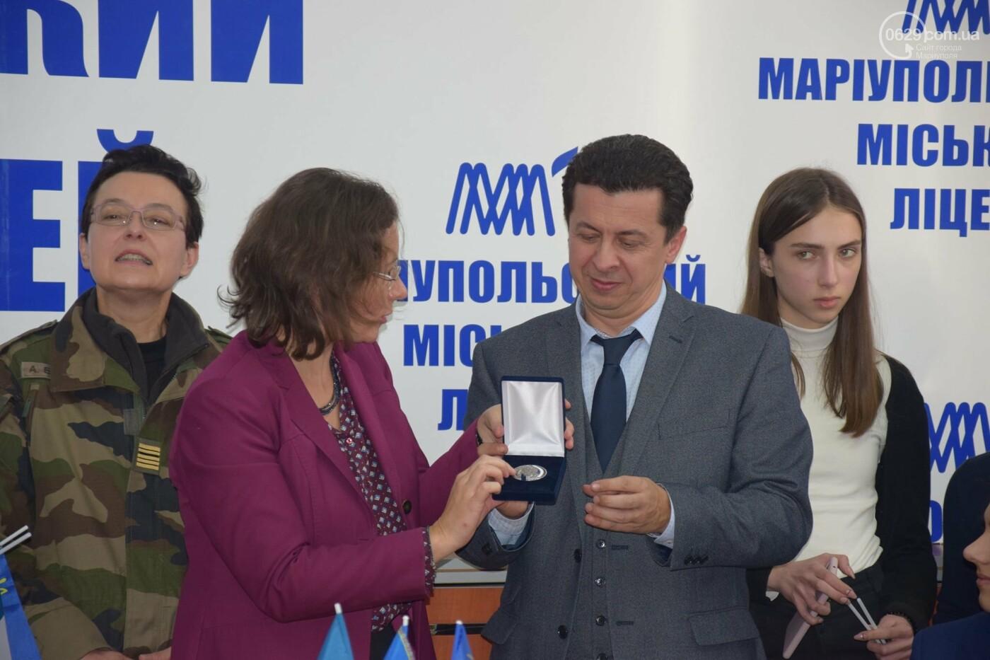 Посол Франции в Украине посетила Мариупольский лицей,- ФОТО, ВИДЕО, фото-4