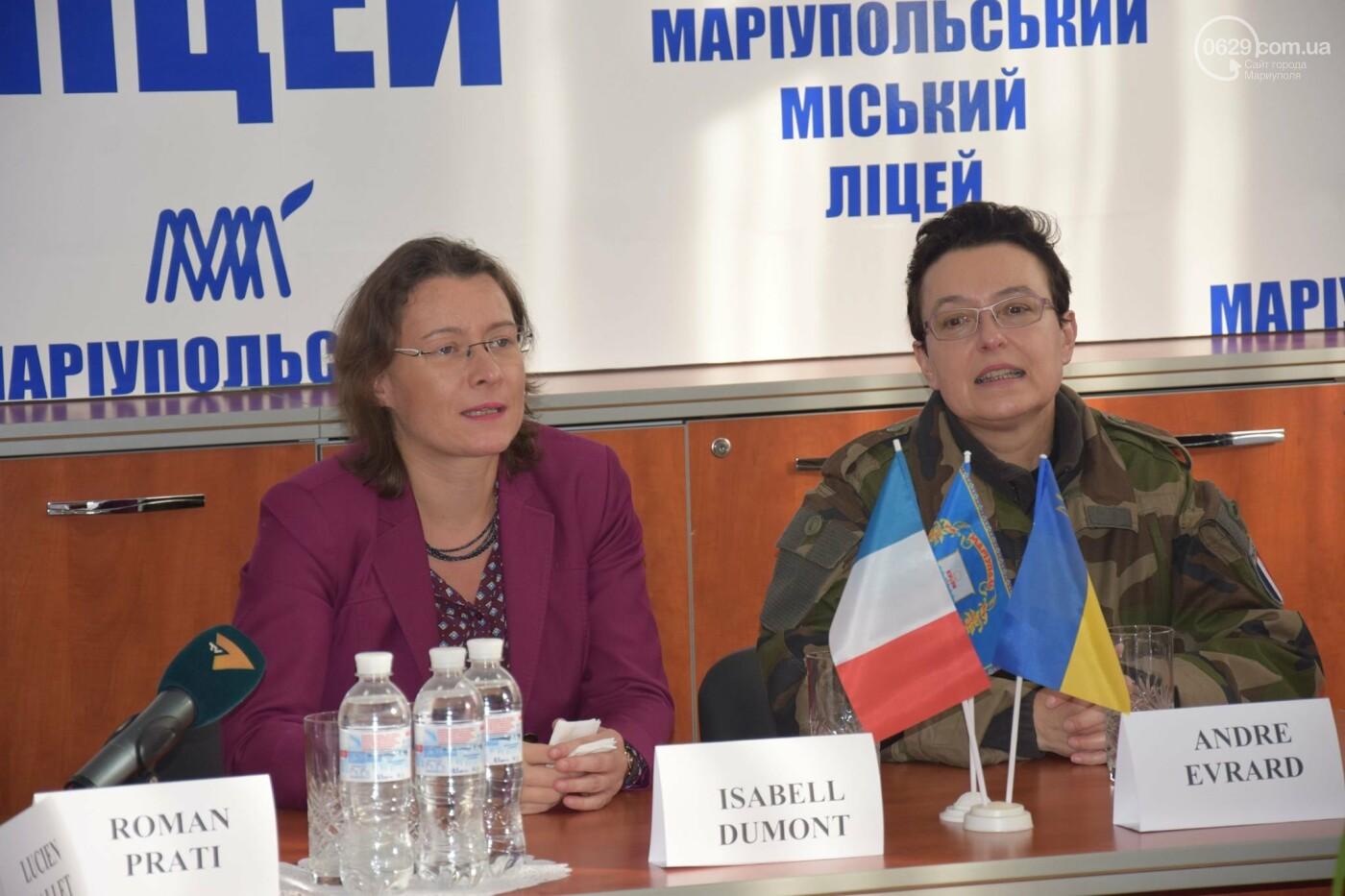 Посол Франции в Украине посетила Мариупольский лицей,- ФОТО, ВИДЕО, фото-1