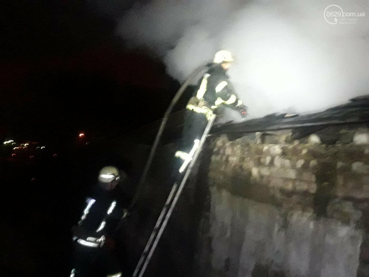 В Мариуполе горит баня военной комендатуры, - ФОТО, фото-2