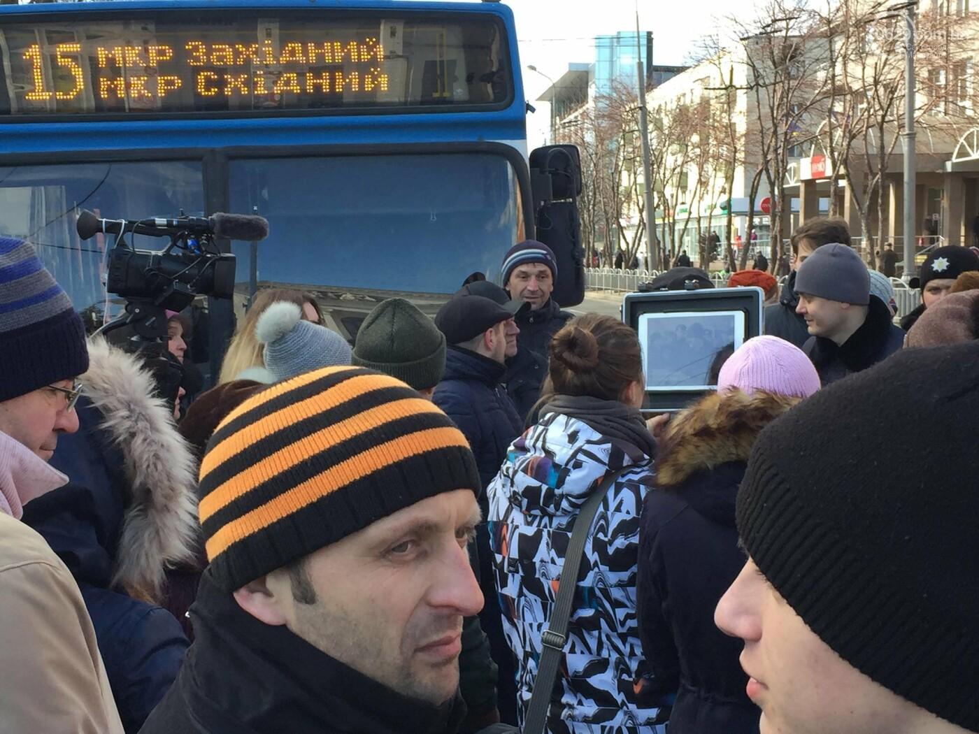 Мариупольцы митингуют против повышения тарифов на проезд, - ФОТО, ВИДЕО, Дополняется, фото-3