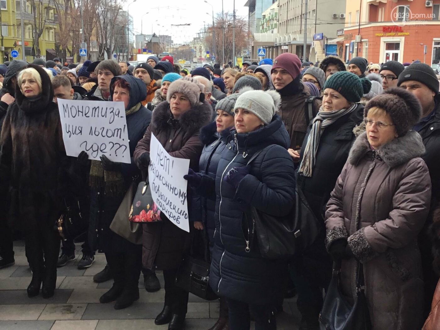 Мариупольцы митингуют против повышения тарифов на проезд, - ФОТО, ВИДЕО, Дополняется, фото-7