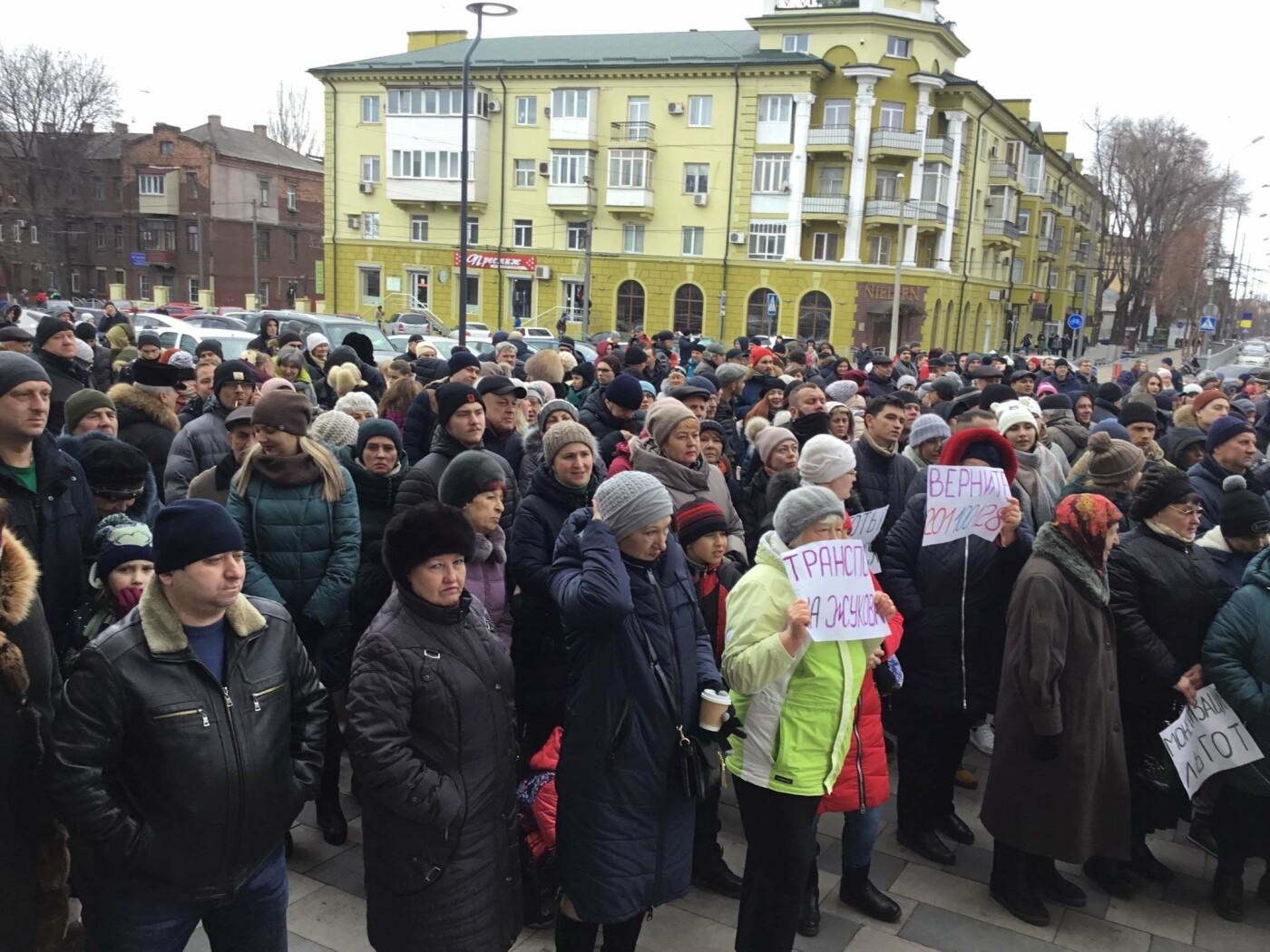 Мариупольцы митингуют против повышения тарифов на проезд, - ФОТО, ВИДЕО, Дополняется, фото-8