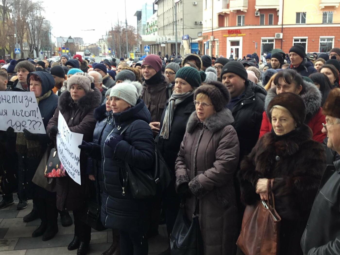 Мариупольцы митингуют против повышения тарифов на проезд, - ФОТО, ВИДЕО, Дополняется, фото-9