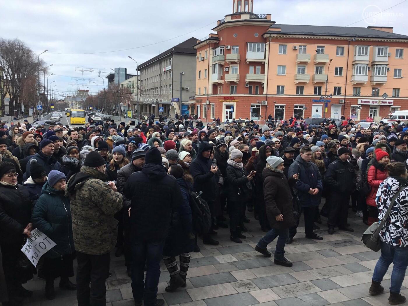 Мариупольцы митингуют против повышения тарифов на проезд, - ФОТО, ВИДЕО, Дополняется, фото-10