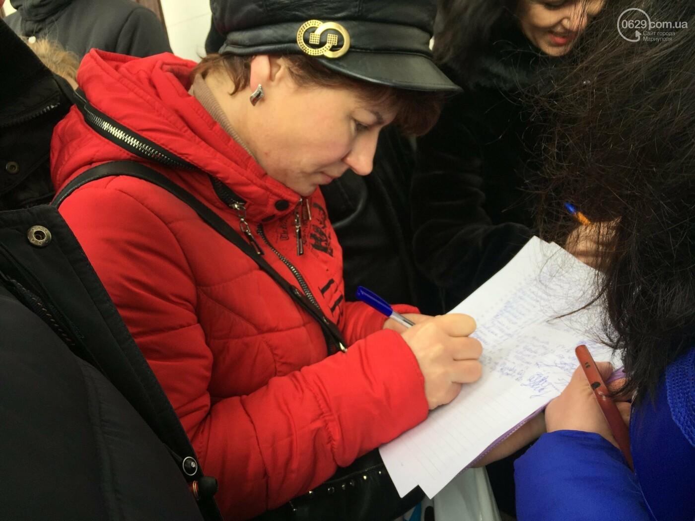 Мариупольцы митингуют против повышения тарифов на проезд, - ФОТО, ВИДЕО, Дополняется, фото-13