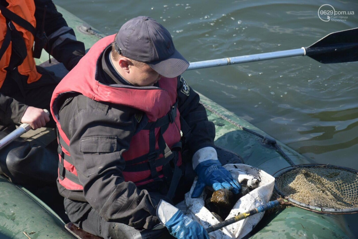 В Мариуполе водолазы очищают Кальчик от пластикового мусора, - ФОТОРЕПОРТАЖ, ВИДЕО, фото-7