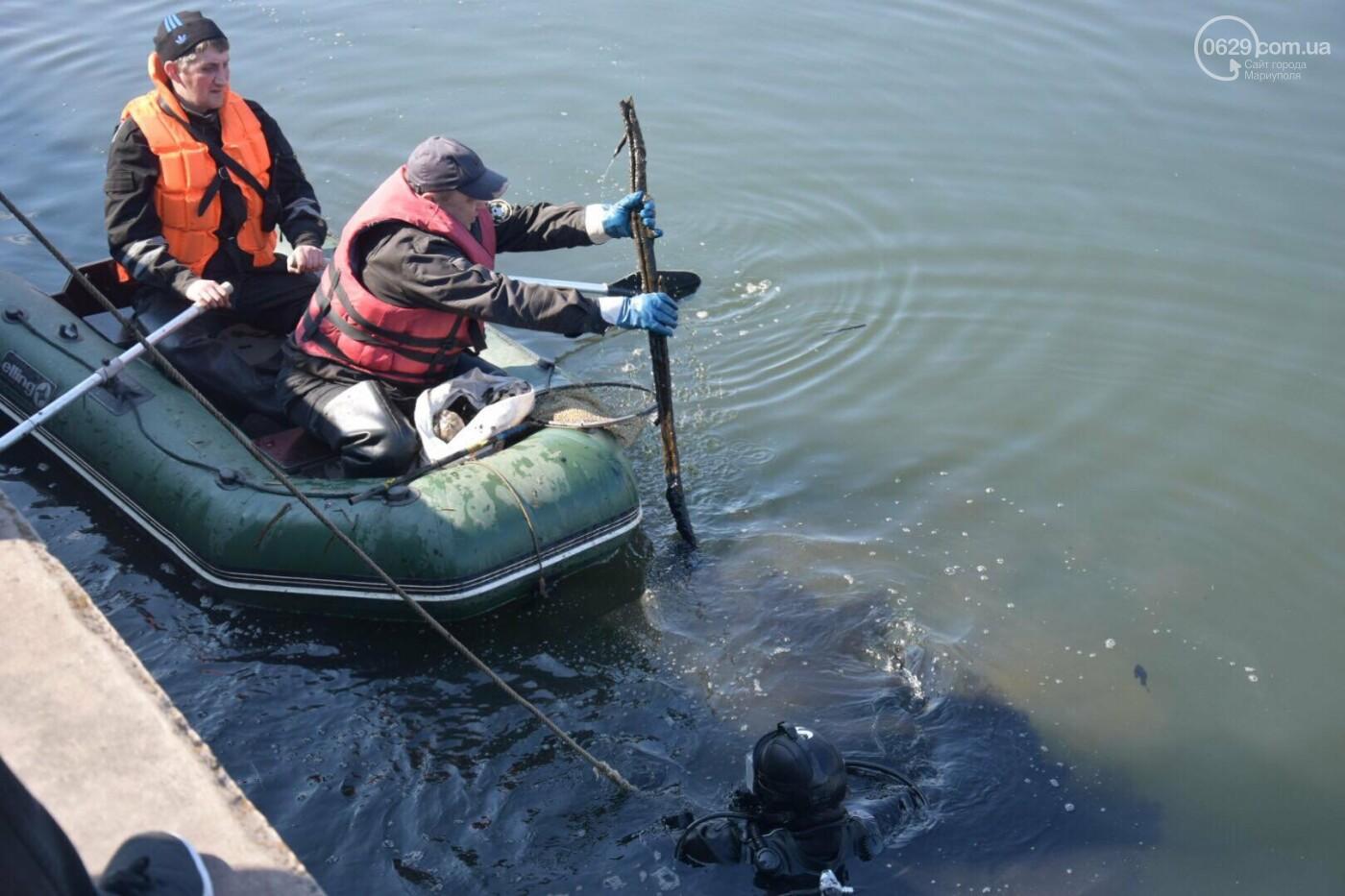 В Мариуполе водолазы очищают Кальчик от пластикового мусора, - ФОТОРЕПОРТАЖ, ВИДЕО, фото-9
