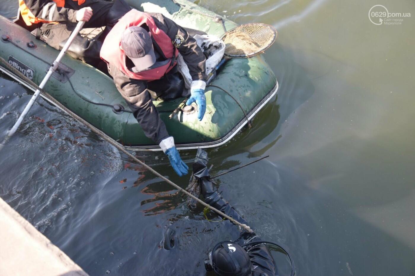 В Мариуполе водолазы очищают Кальчик от пластикового мусора, - ФОТОРЕПОРТАЖ, ВИДЕО, фото-11