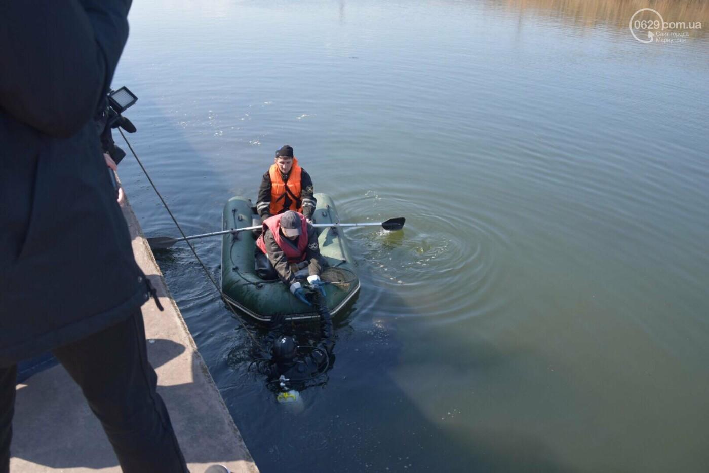 В Мариуполе водолазы очищают Кальчик от пластикового мусора, - ФОТОРЕПОРТАЖ, ВИДЕО, фото-17