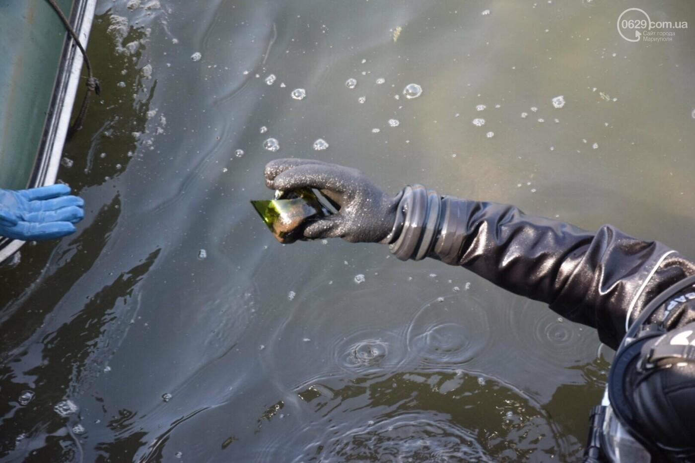 В Мариуполе водолазы очищают Кальчик от пластикового мусора, - ФОТОРЕПОРТАЖ, ВИДЕО, фото-21