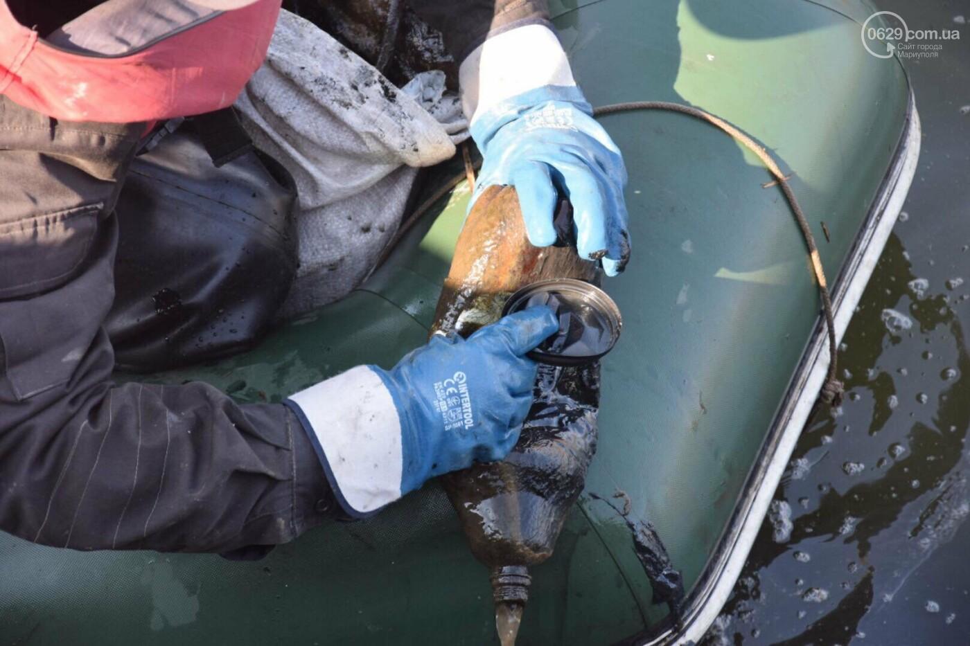 В Мариуполе водолазы очищают Кальчик от пластикового мусора, - ФОТОРЕПОРТАЖ, ВИДЕО, фото-22