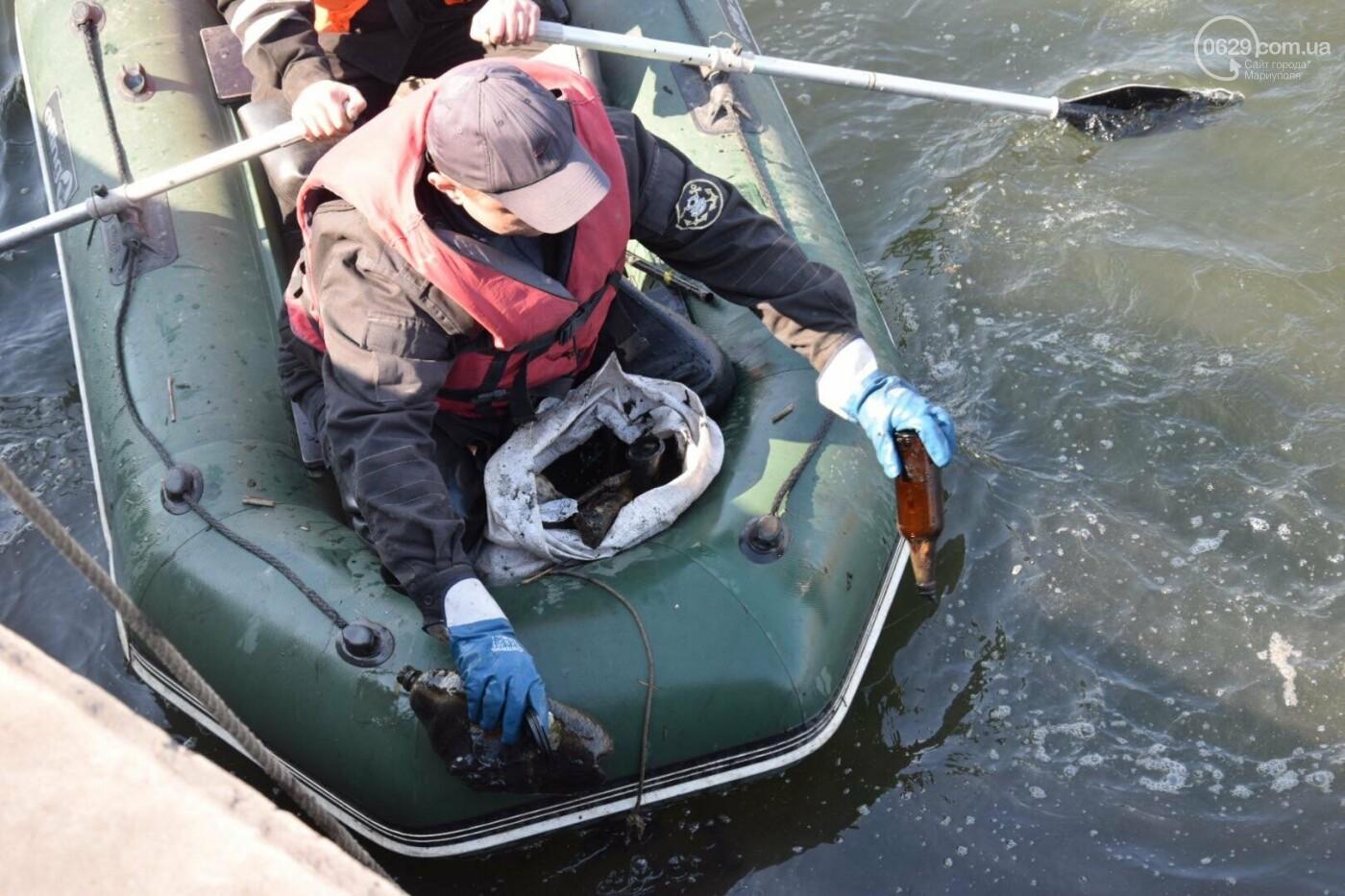 В Мариуполе водолазы очищают Кальчик от пластикового мусора, - ФОТОРЕПОРТАЖ, ВИДЕО, фото-23