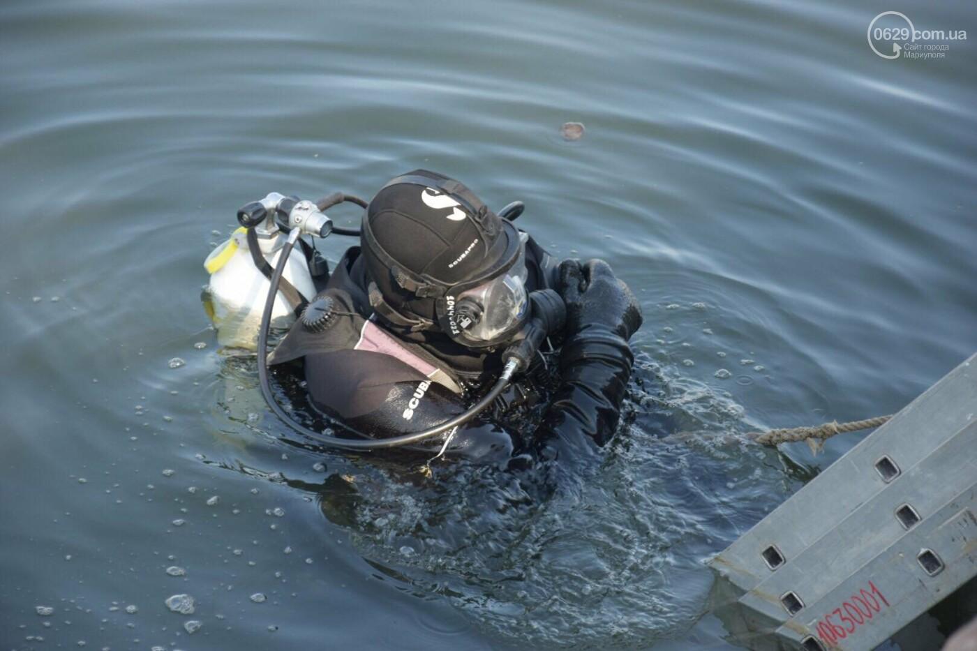 В Мариуполе водолазы очищают Кальчик от пластикового мусора, - ФОТОРЕПОРТАЖ, ВИДЕО, фото-29