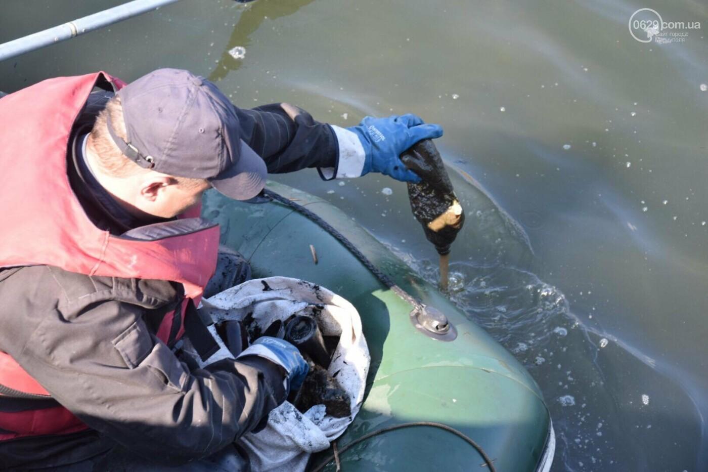 В Мариуполе водолазы очищают Кальчик от пластикового мусора, - ФОТОРЕПОРТАЖ, ВИДЕО, фото-35