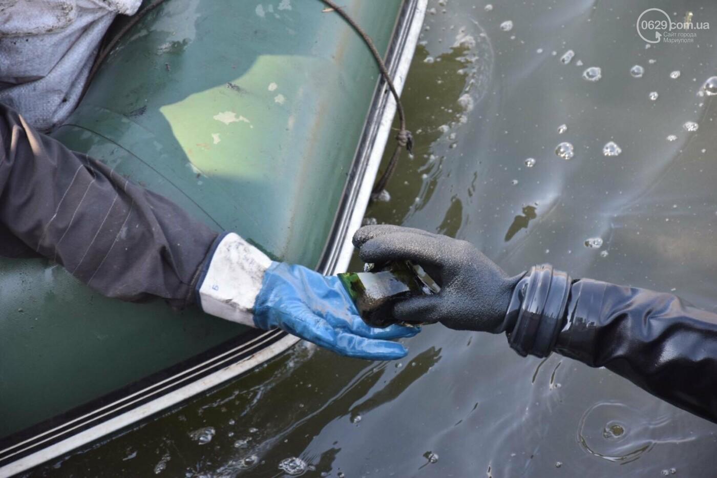 В Мариуполе водолазы очищают Кальчик от пластикового мусора, - ФОТОРЕПОРТАЖ, ВИДЕО, фото-1