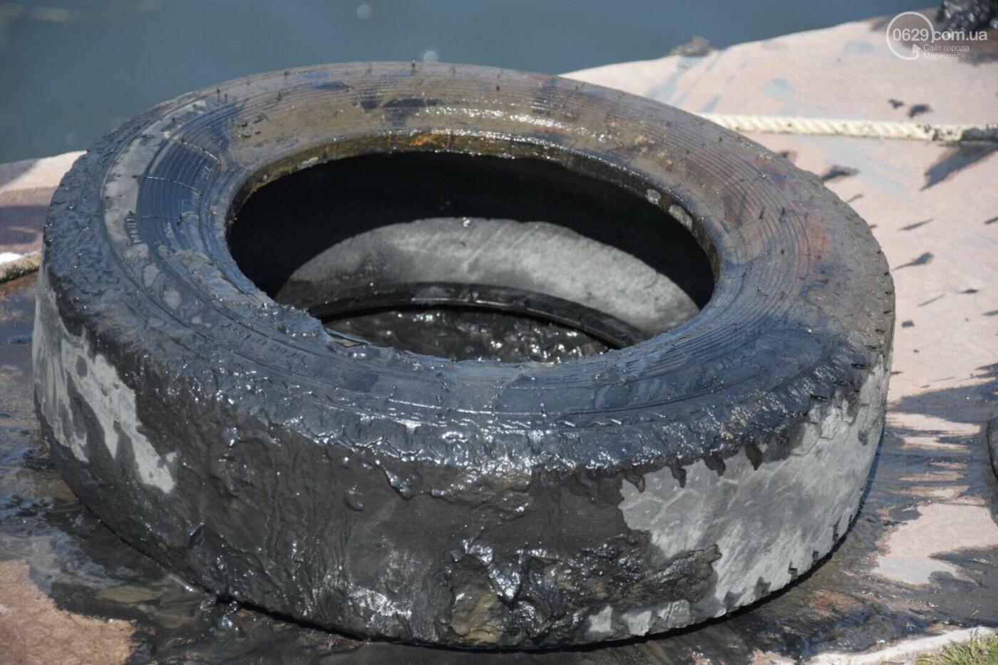 В Мариуполе водолазы очищают Кальчик от пластикового мусора, - ФОТОРЕПОРТАЖ, ВИДЕО, фото-4