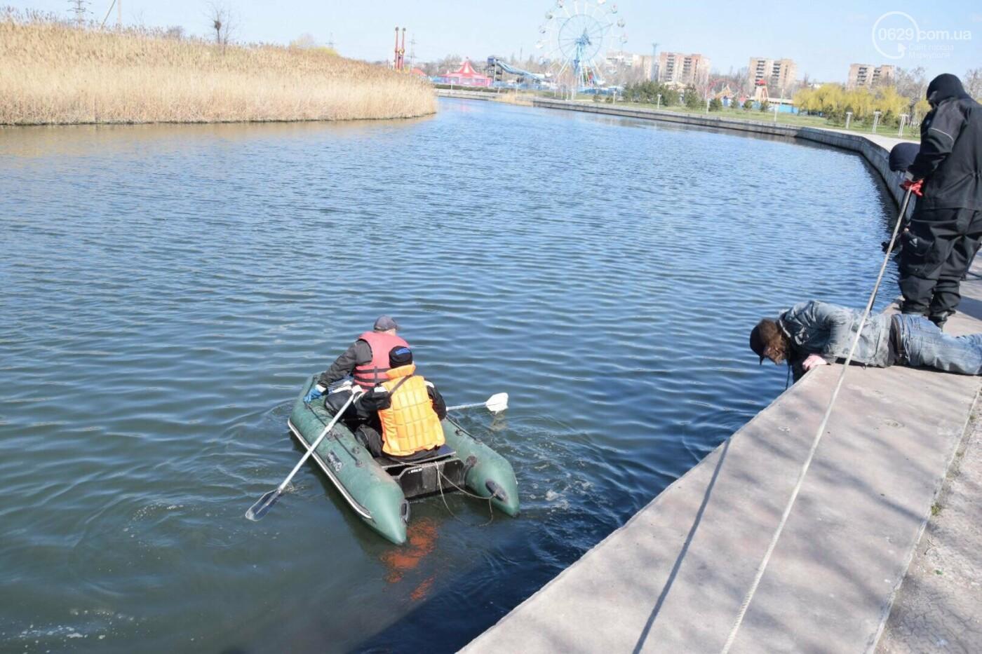 В Мариуполе водолазы очищают Кальчик от пластикового мусора, - ФОТОРЕПОРТАЖ, ВИДЕО, фото-6