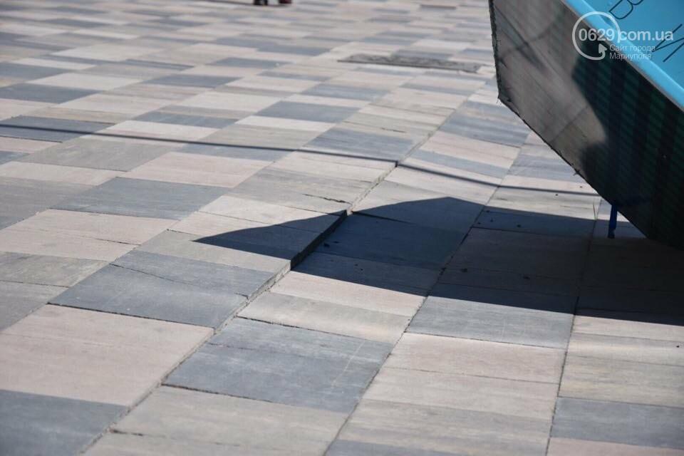 Город против драмтеатра. Кто разломал новую плитку в Мариуполе, и кто будет ее восстанавливать, - ФОТО, ВИДЕО, фото-4