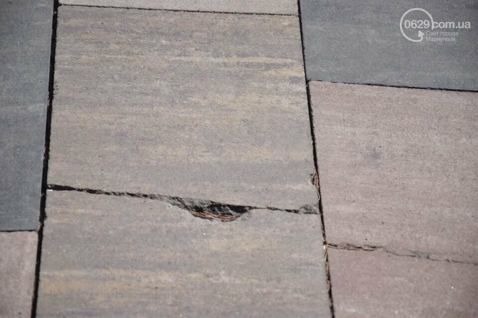 Город против драмтеатра. Кто разломал новую плитку в Мариуполе, и кто будет ее восстанавливать, - ФОТО, ВИДЕО, фото-7
