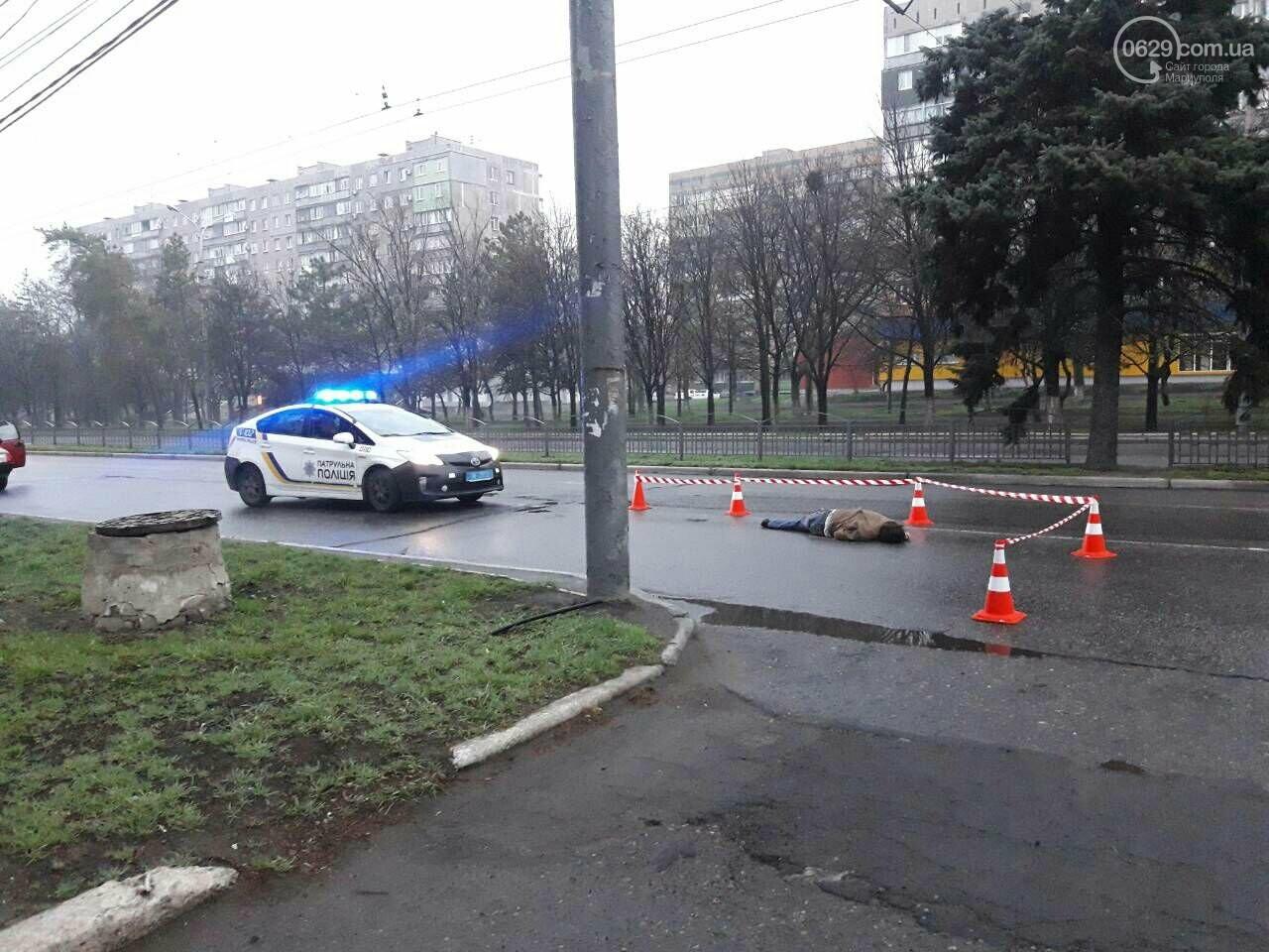 Смертельное ДТП. В центре Мариуполя на дороге нашли труп мужчины, - ФОТО 18+, фото-3