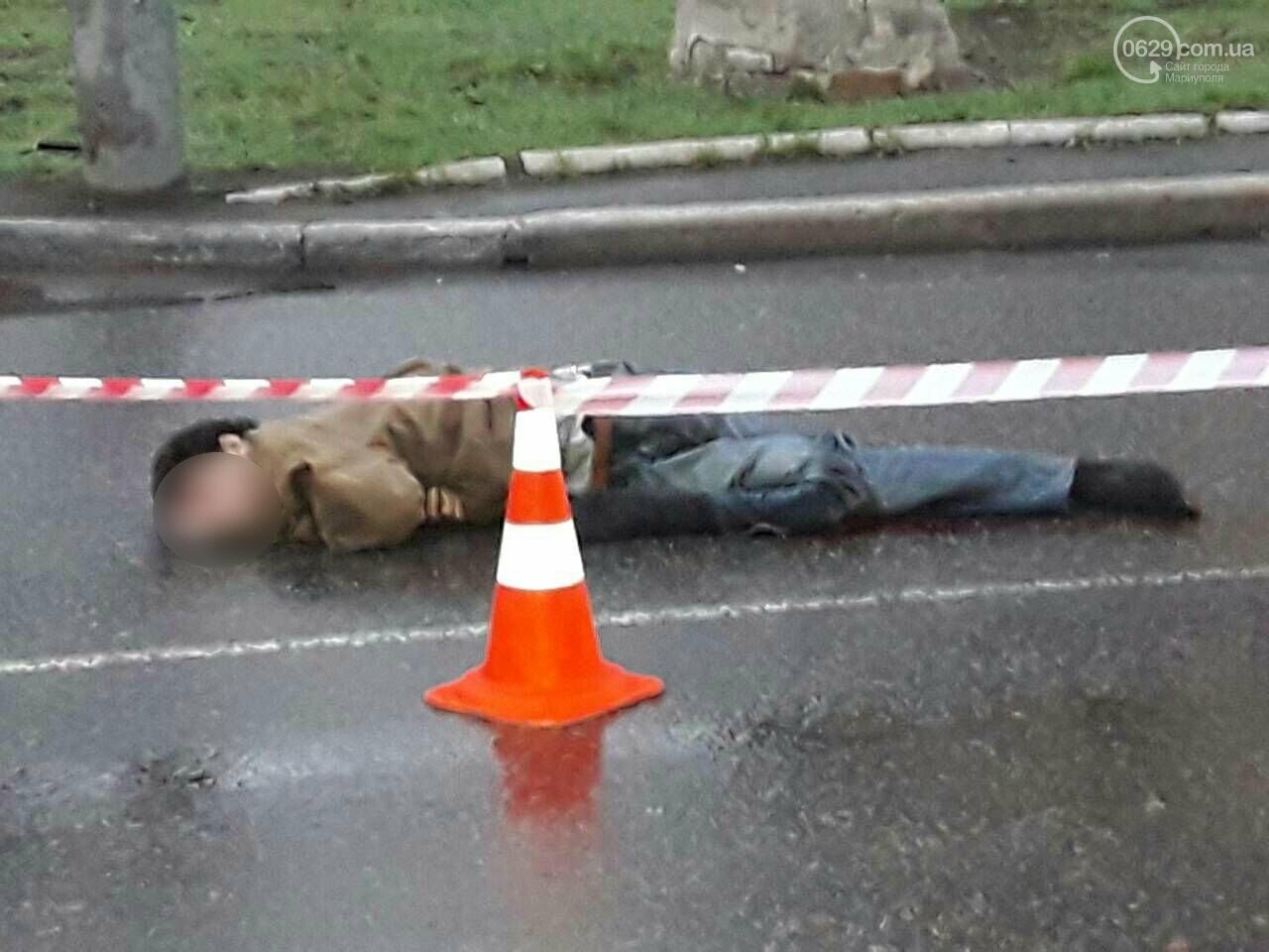 Смертельное ДТП. В центре Мариуполя на дороге нашли труп мужчины, - ФОТО 18+, фото-5