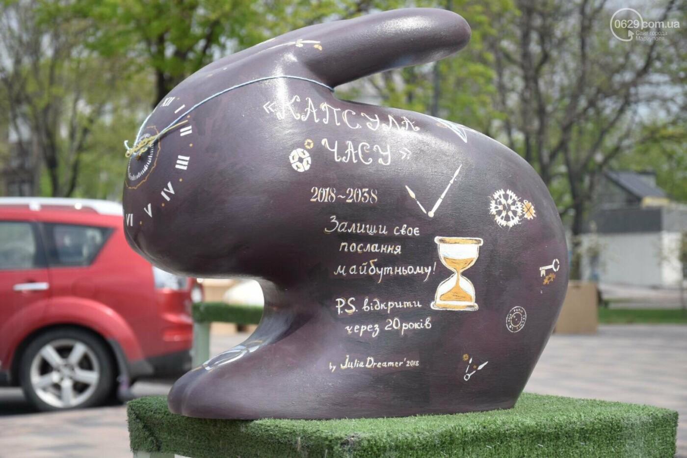 В Мариуполе на Театральной площади появились огромные кролики и полутораметровые писанки, - ФОТОРЕПОРТАЖ, фото-3