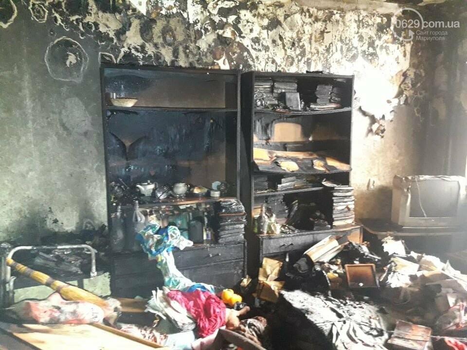 В Мариуполе случился пожар в квартире беспомощной пенсионерки, - ФОТО, фото-5