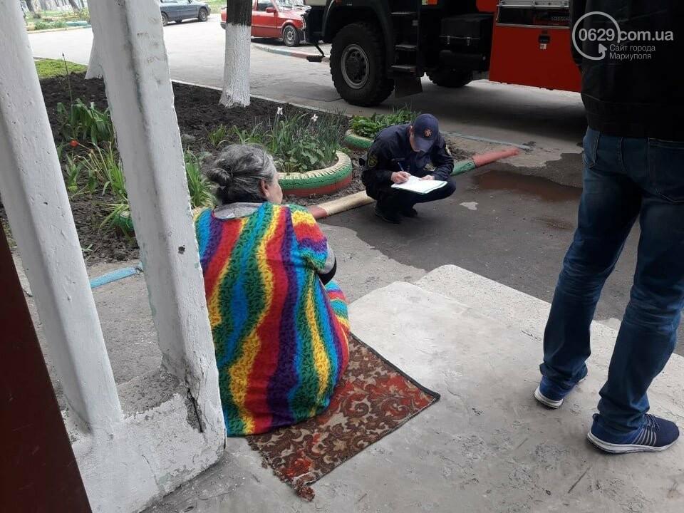 В Мариуполе случился пожар в квартире беспомощной пенсионерки, - ФОТО, фото-1