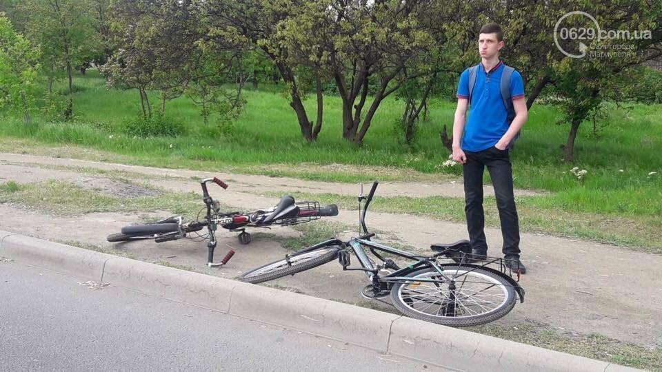 """В Мариуполе 12-летний велосипедист сломал руку после столкновения с """"Nissan"""", - ФОТО, фото-1"""
